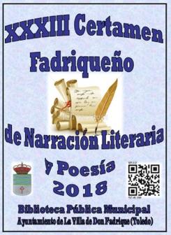 XXXIII Concurso Fadriqueño de Narración Literaria y Poesía