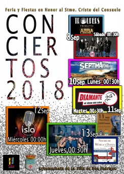 Actividades musicales Feria y Fiestas 2018