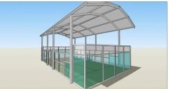 Adjudicada la construcción de la cubierta de dos pistas de pádel
