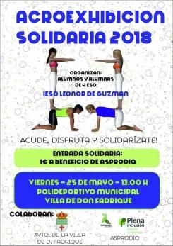 Exhibición acrobática del IESO Leonor de Guzmán este viernes a beneficio de Asprodiq