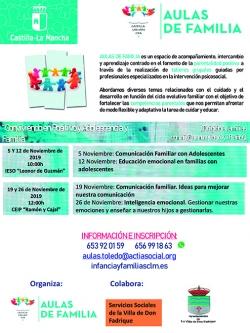 Programa 'Aulas de familia', en La Villa de Don Fadrique...